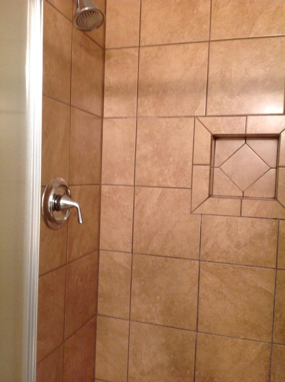 Large walk in tile showers