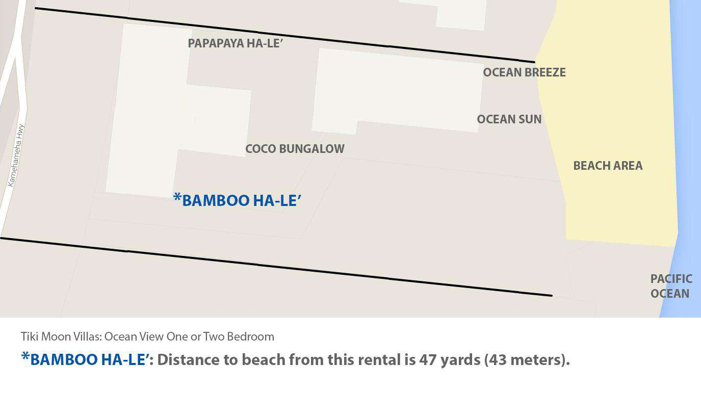 Google map view of ocean proximity to Bamboo Ha-le'