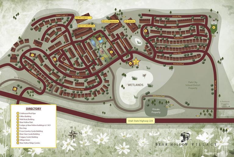 Map of Bear Hollow Village