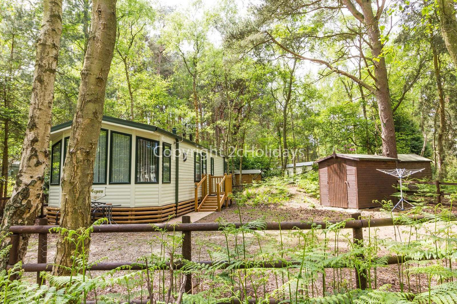Within this woodland setting, you can totally unwind and relax!