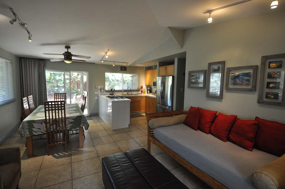 Kitchen dining living area