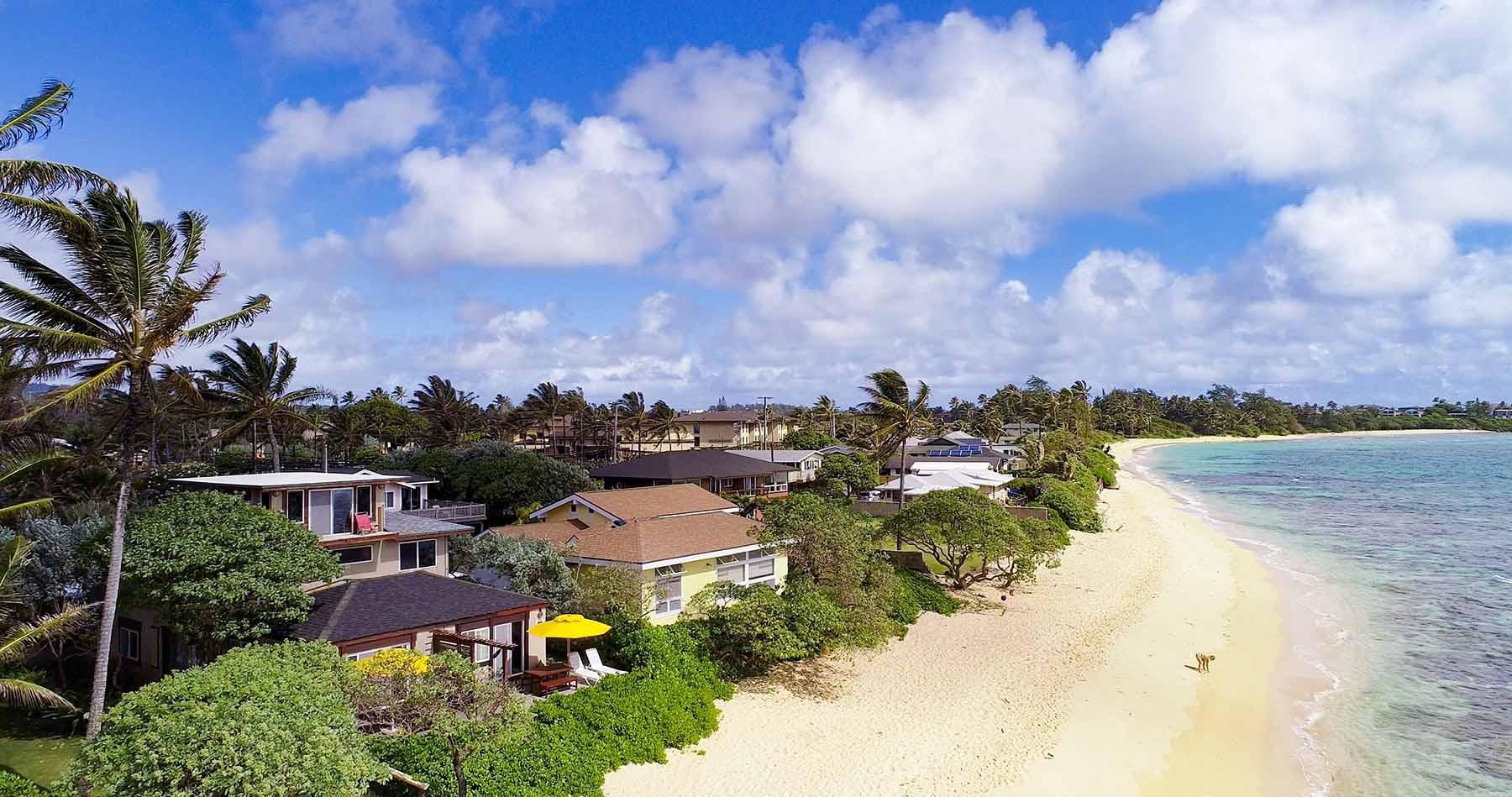 Our beachfront area only is 100 steps from back door of Papaya.
