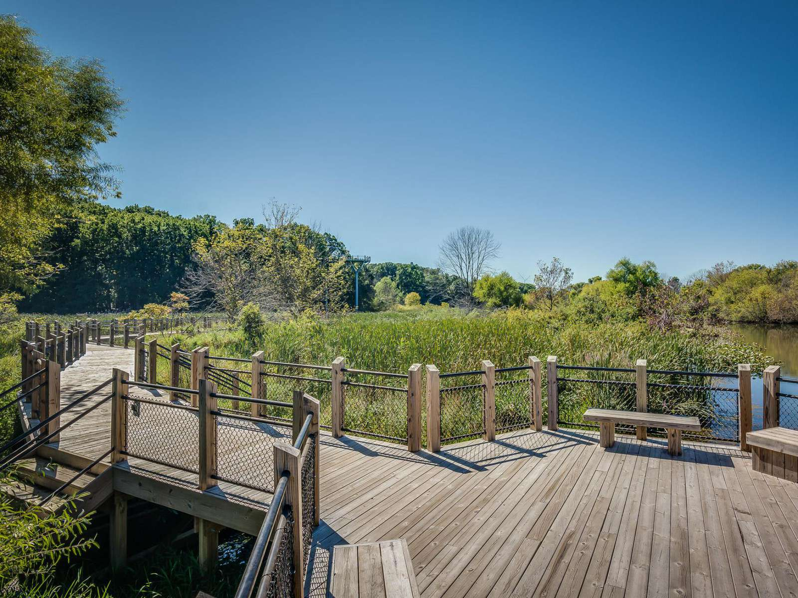 Galien River Park Boardwalk - New Buffalo