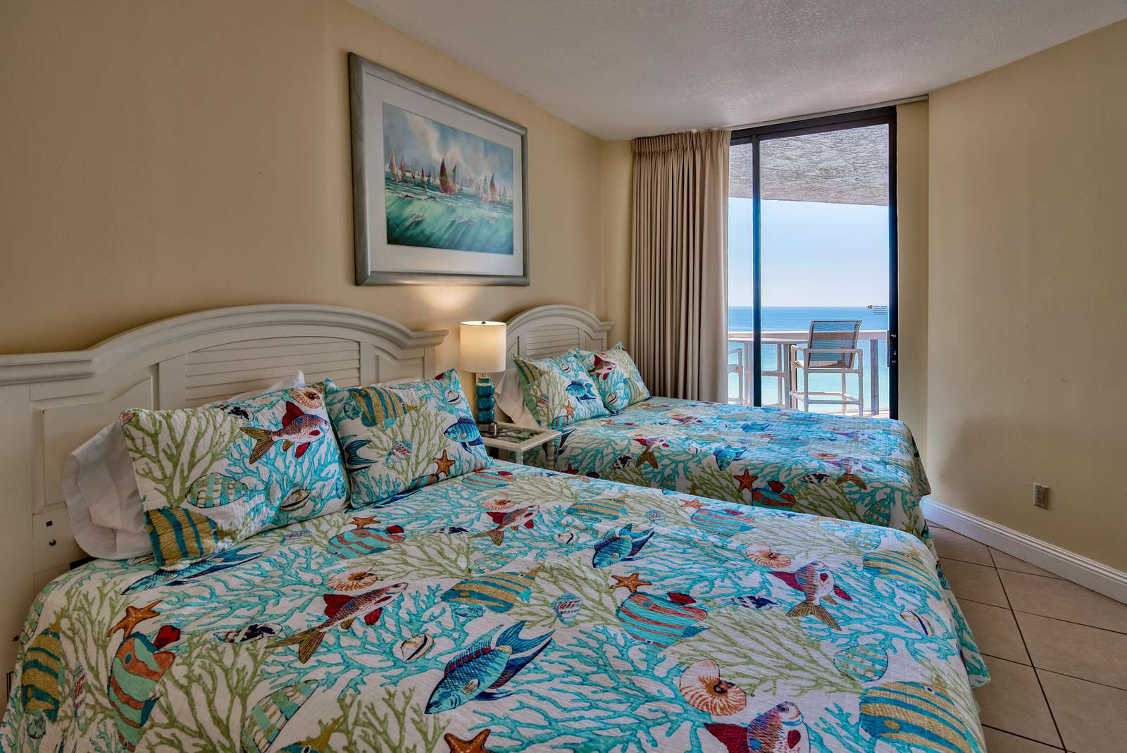 2nd Bedroom - Queen Beds - Views of the Gulf