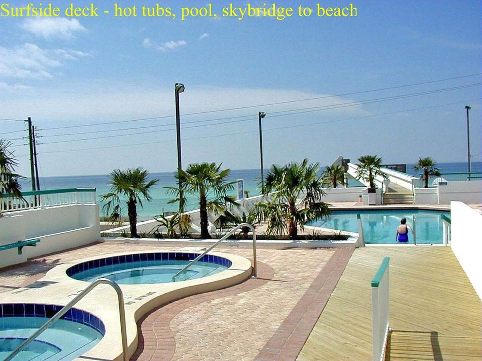 Tow Hot Tubs on Pool Deck