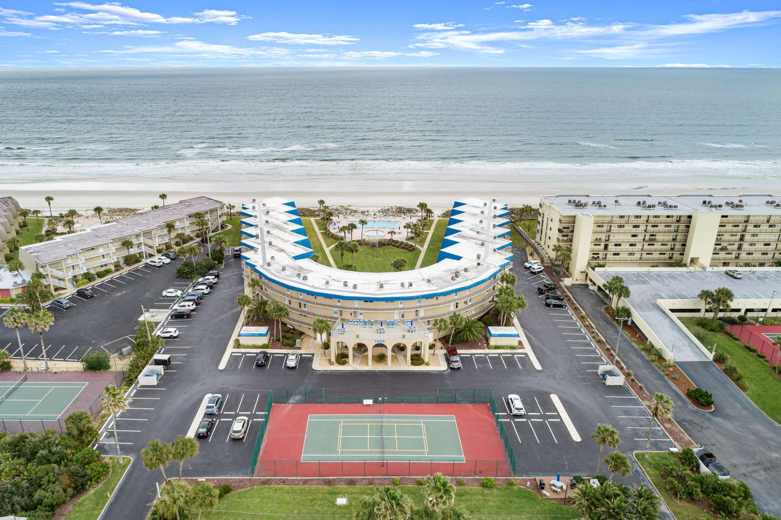 Aerial with view of Tennis/Pickle Ball Court