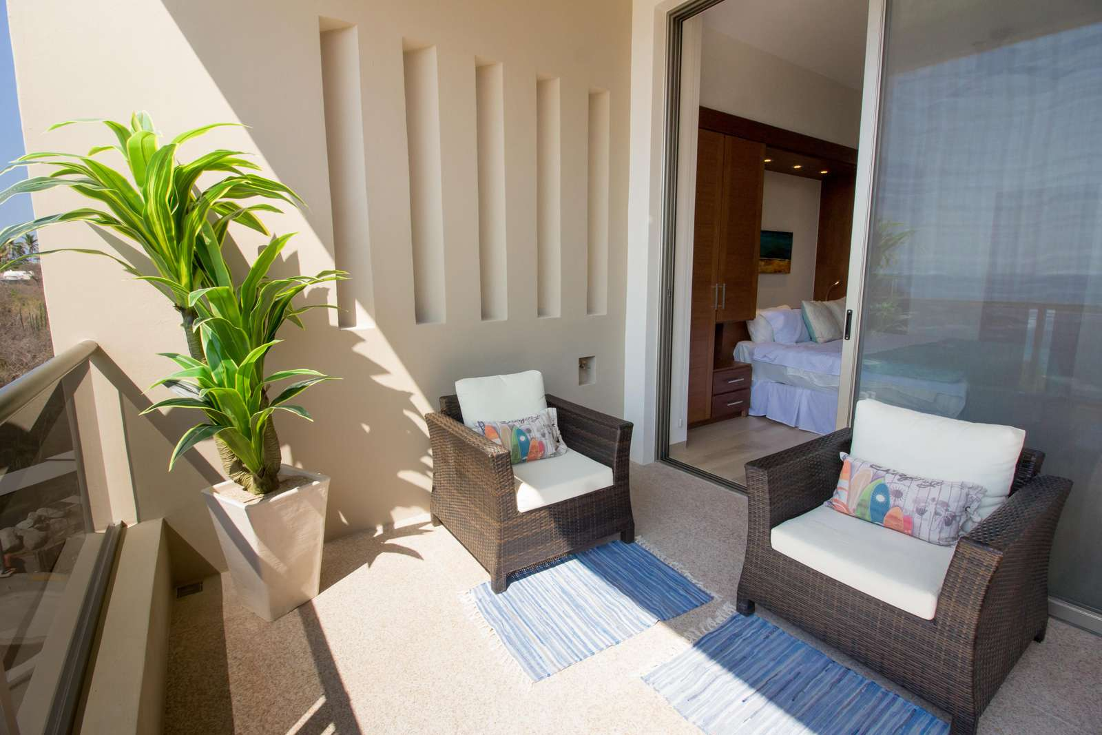 Comfortable seating on the terrace