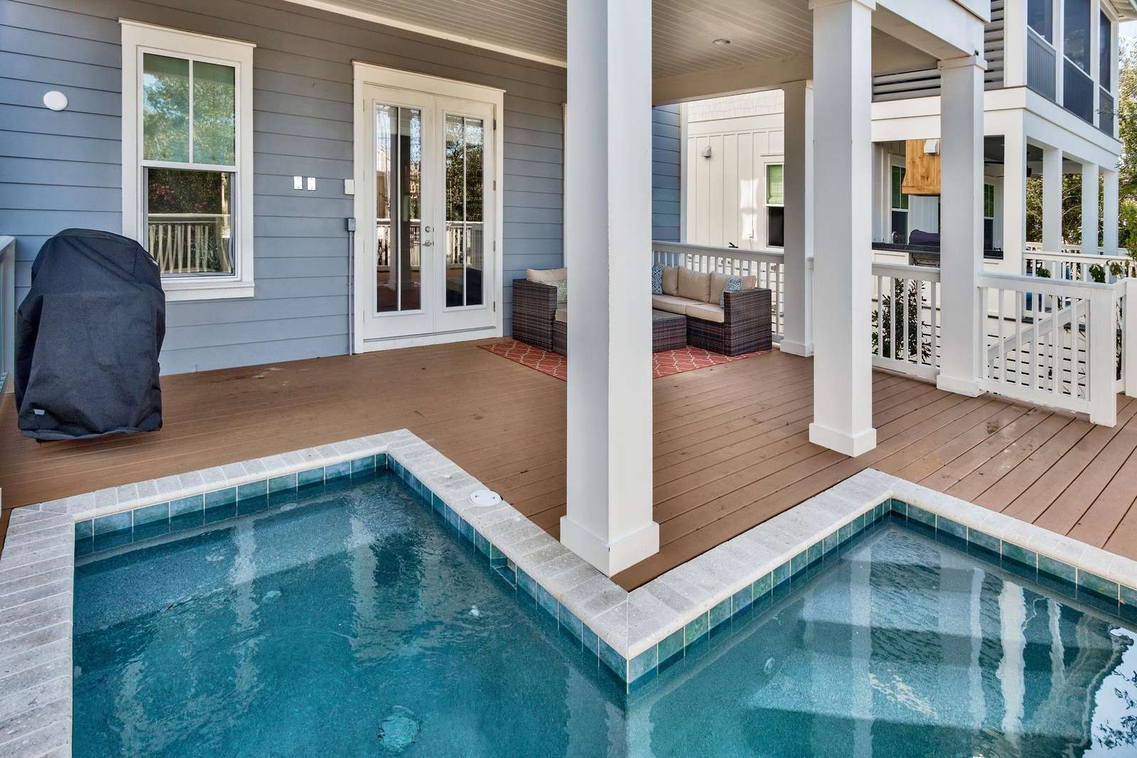 """5"""" x 12"""" """"L"""" shaped pool with 50"""" avg depth"""