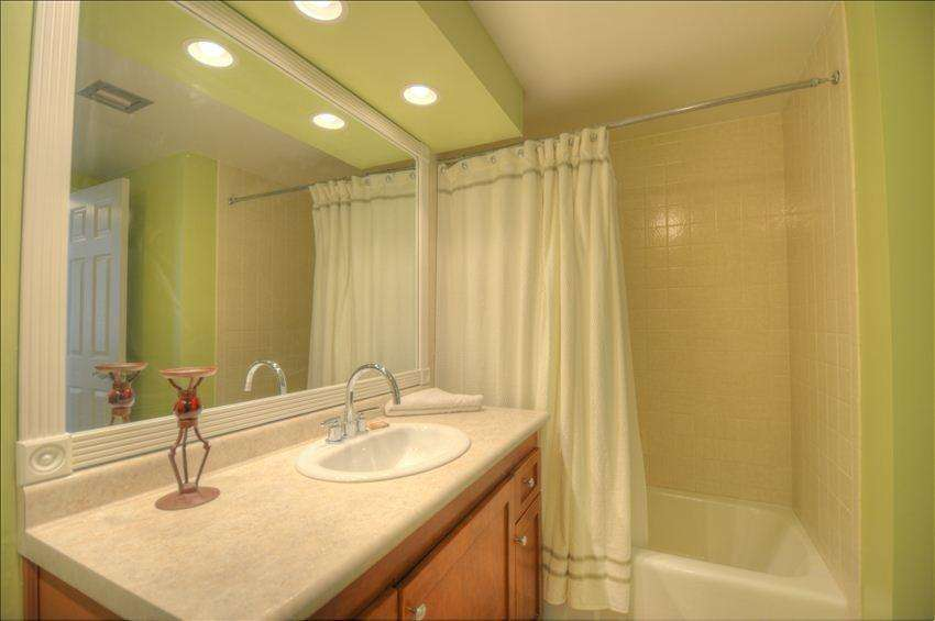 The second bathroom features a tub/shower combination.