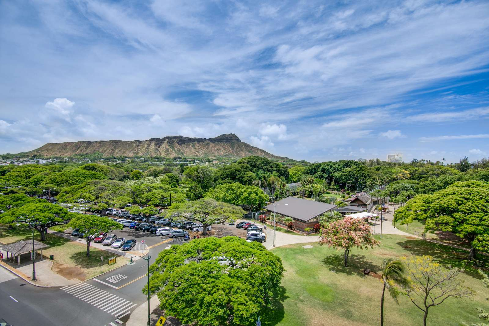 Send pics home  of Diamond Head - It's right here.