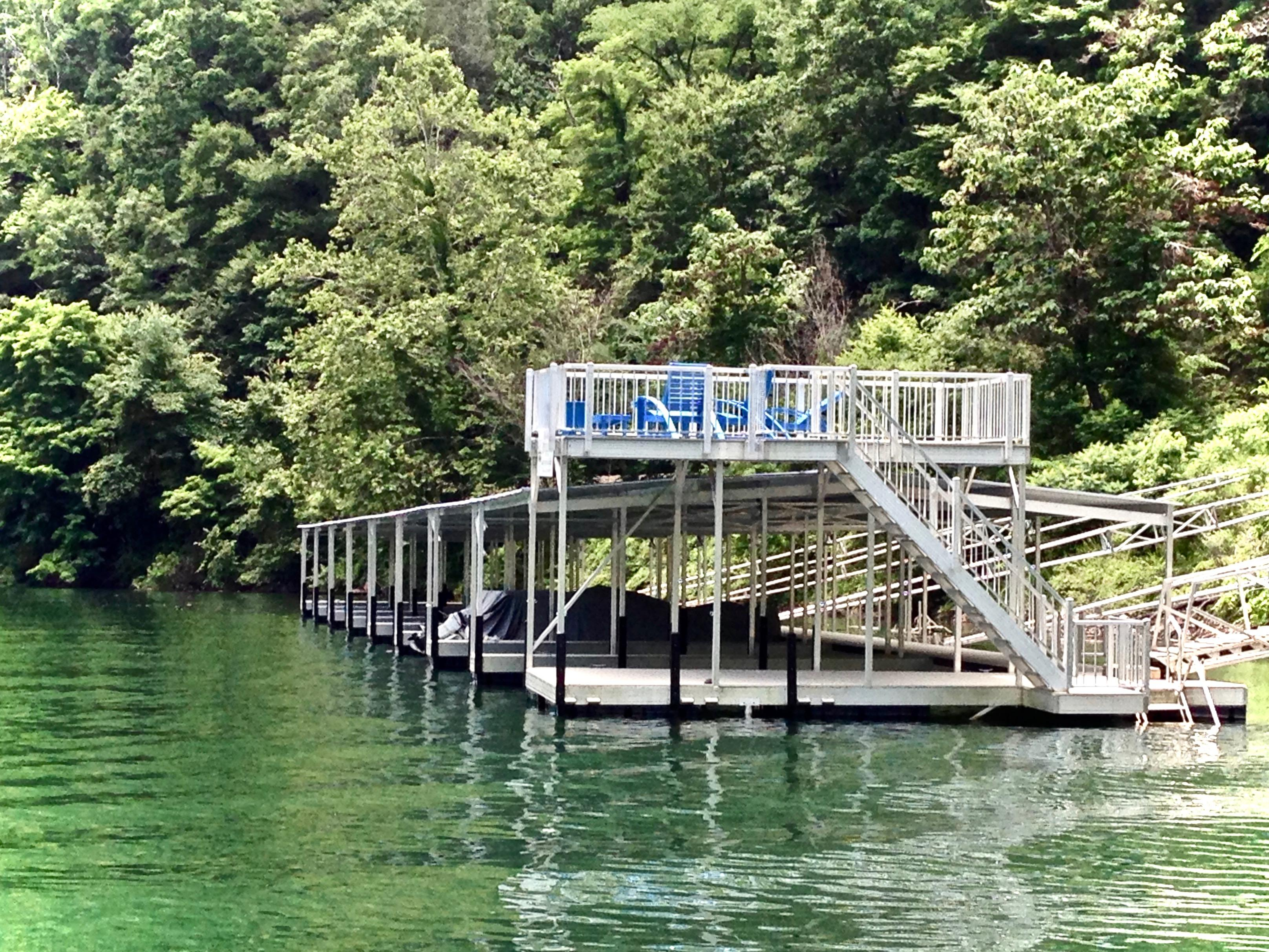 Swim deck, Sun deck, and boat slips are  ideal for fishing, swimming, and relaxing...