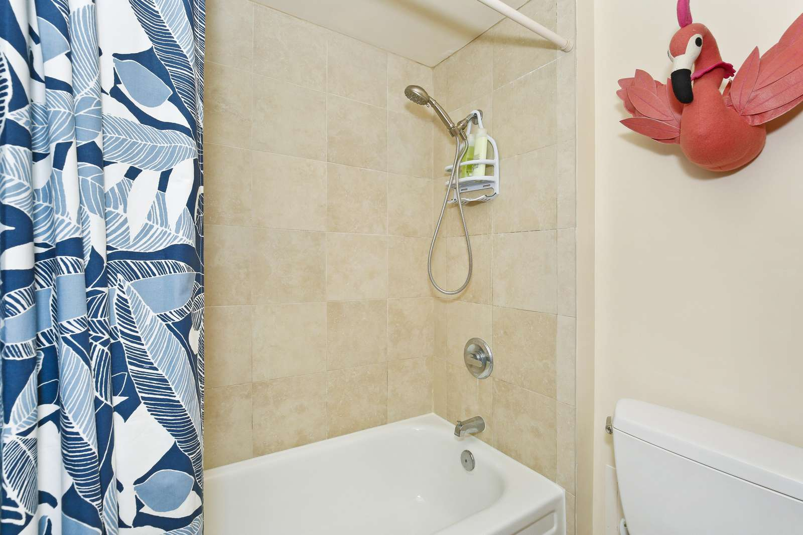 Shower/Tub combo with hand held shower.