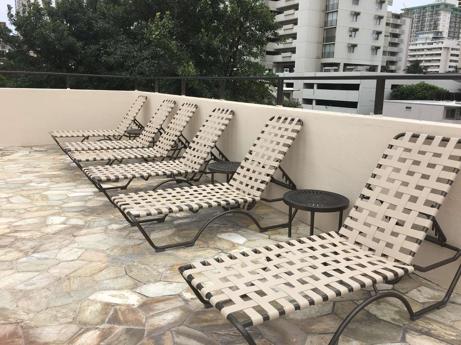 Ample sun loungers around the pool.