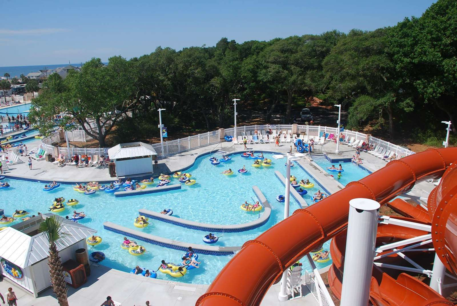 View to lazy river