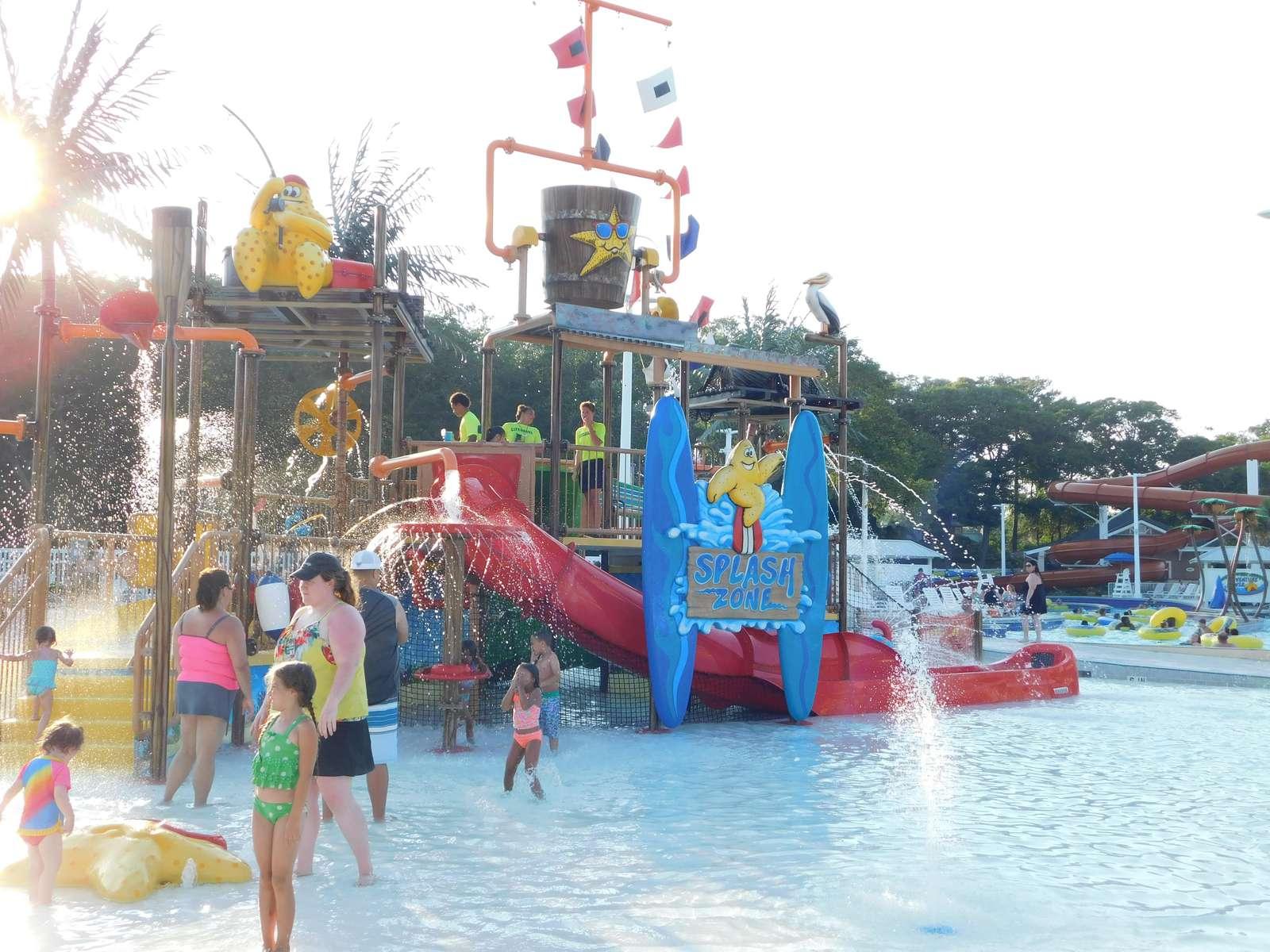 Slide in the kiddie pool