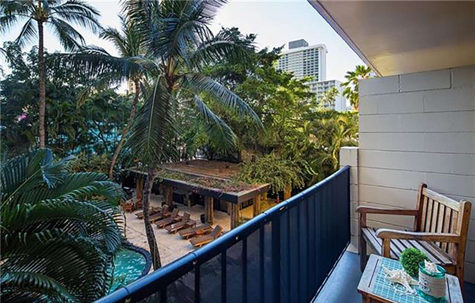 Your private lanai overlooking the pool