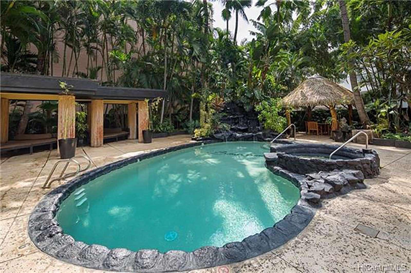 Take a dip in the pool or soak away stress in the hottub.