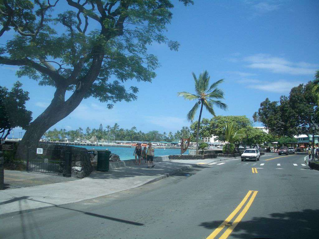 A view of Kailua Pier, in town.