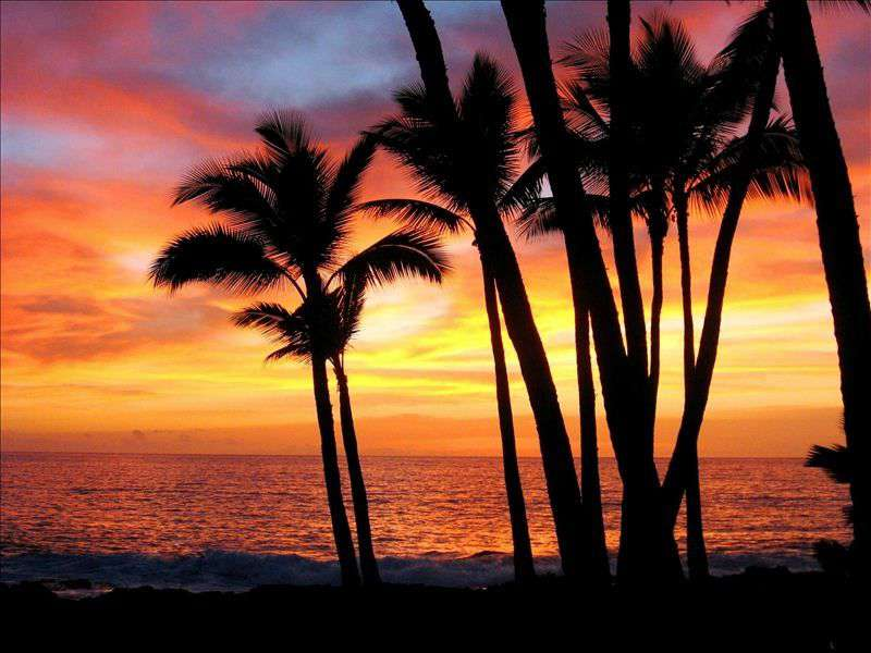 At the end of your day, enjoy a stunning Kona sunset from your lanai.