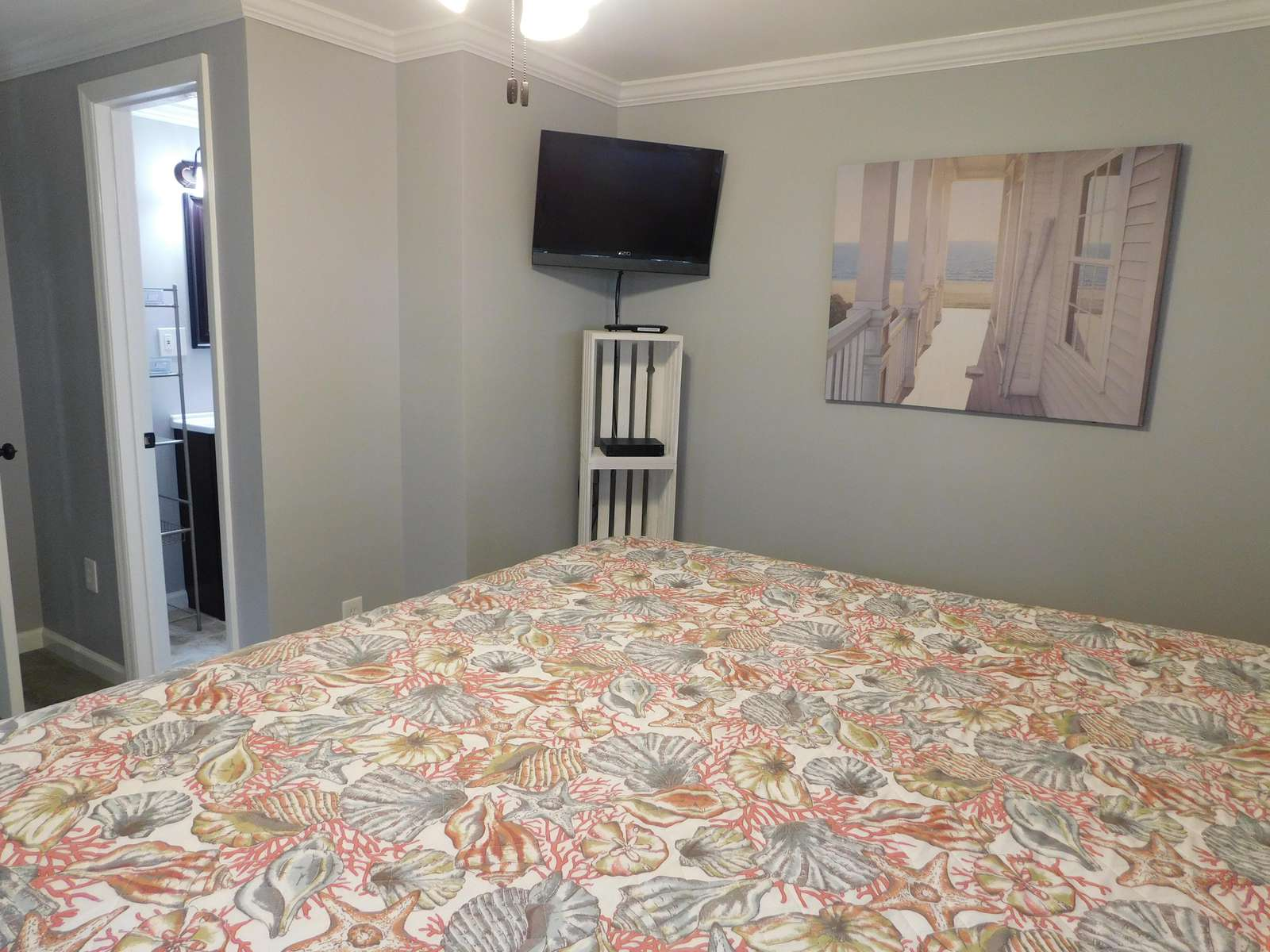 Flat screen in Master Bedroom