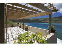 The trellis and upper lookout/deck area. An awe-inspiring 180º panorama of Magen's Bay! thumb