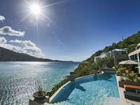 The pool overlooking Magens Bay and the Northside of St. Thomas thumb