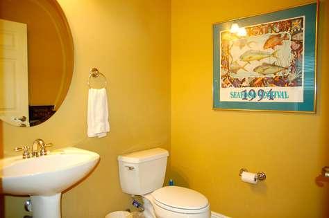 Guest half bathroom (1st floor).