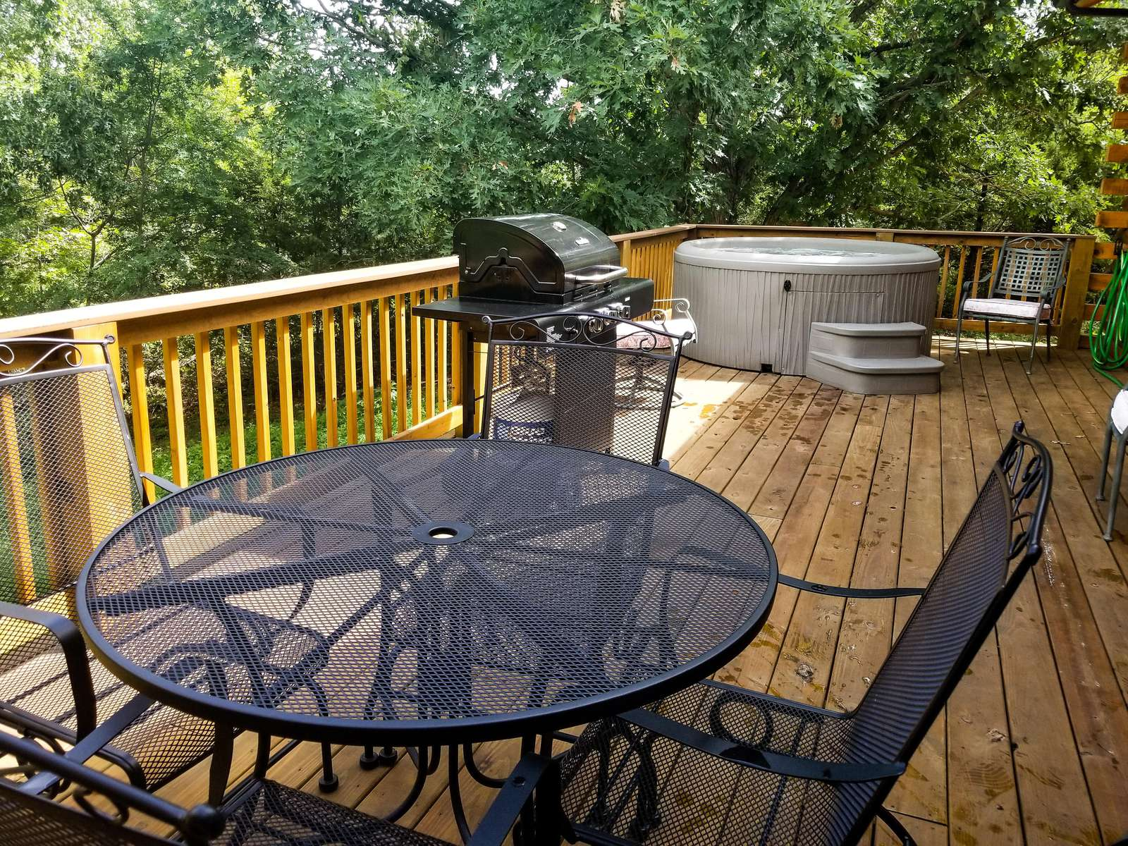 Private Back Deck with Grill