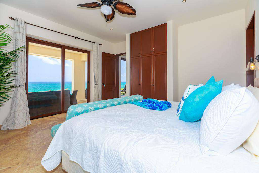 Views from each King Bed bedroom of the Caribbean