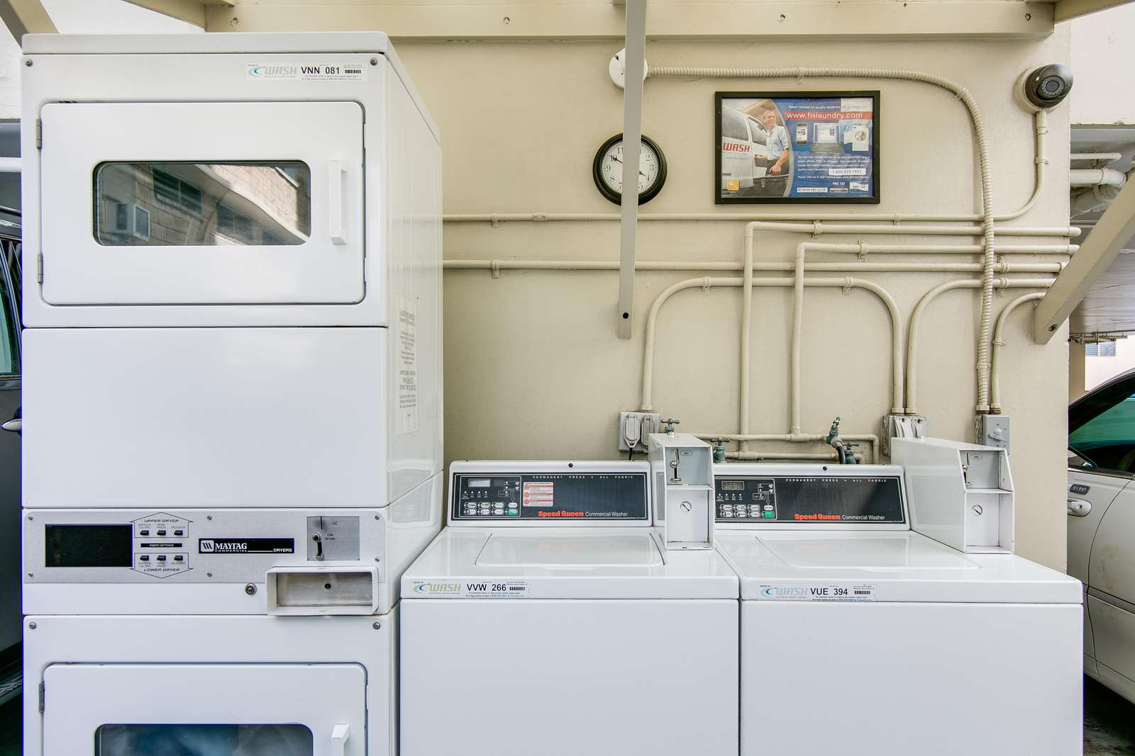 Onsite coin-operated laundry facilities