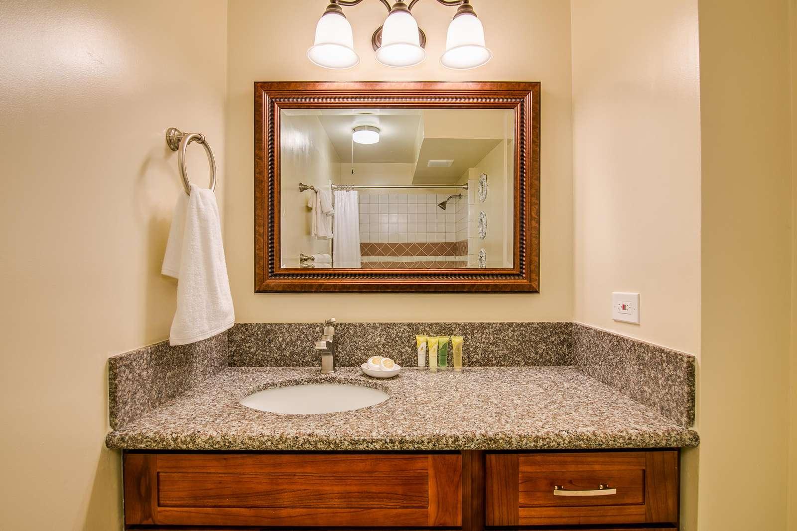 Tasteful and bright bathroom