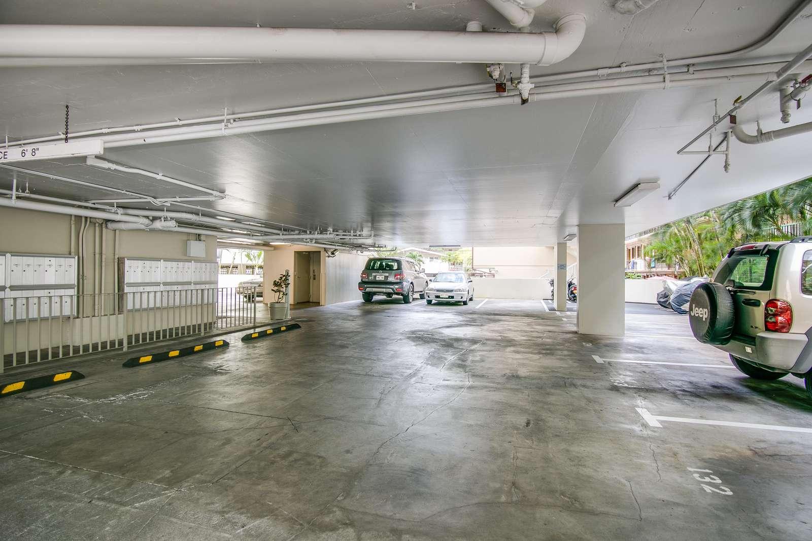 Large secure parking garage on two levels
