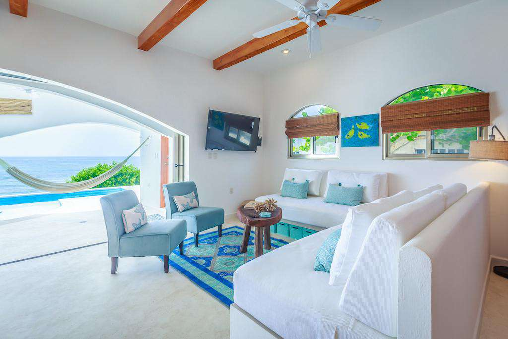 Enjoy Caribbean breezes from comfortable sofas