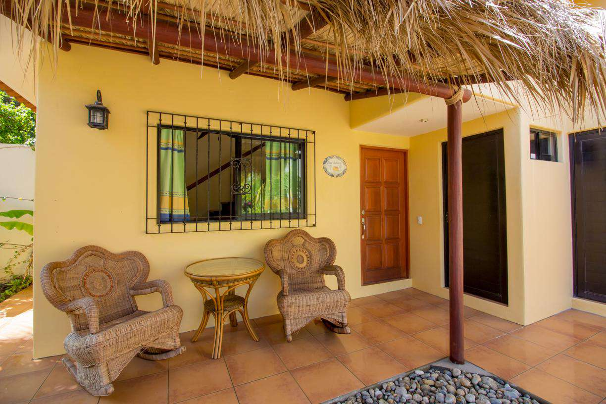 Casita Exterior with rocking chairs