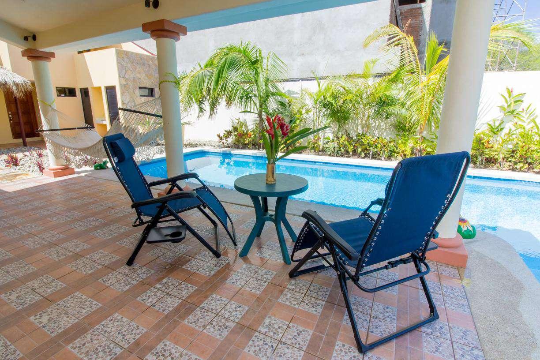 Plenty of seating around the pool