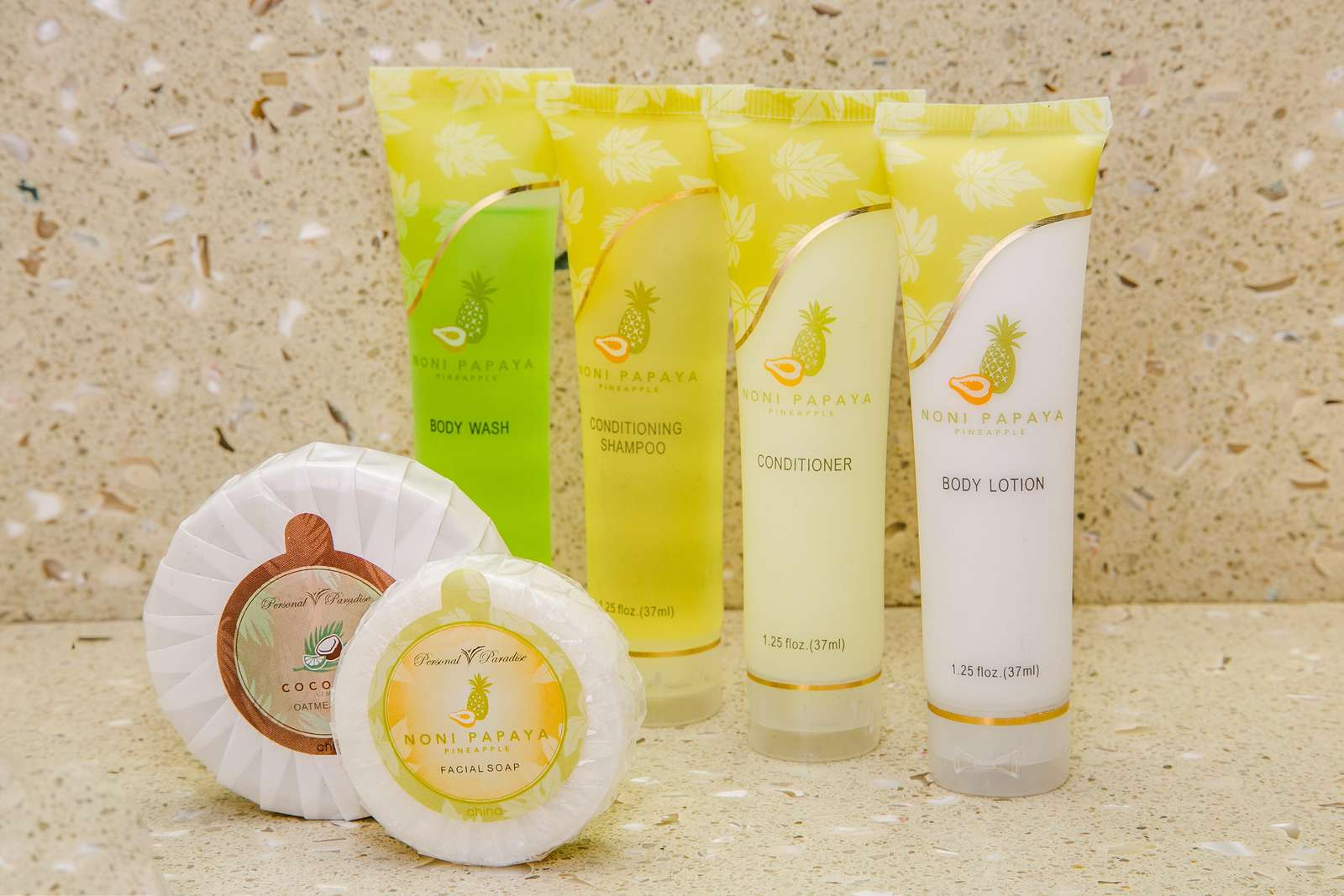 first couple of days supply soaps & shampoo