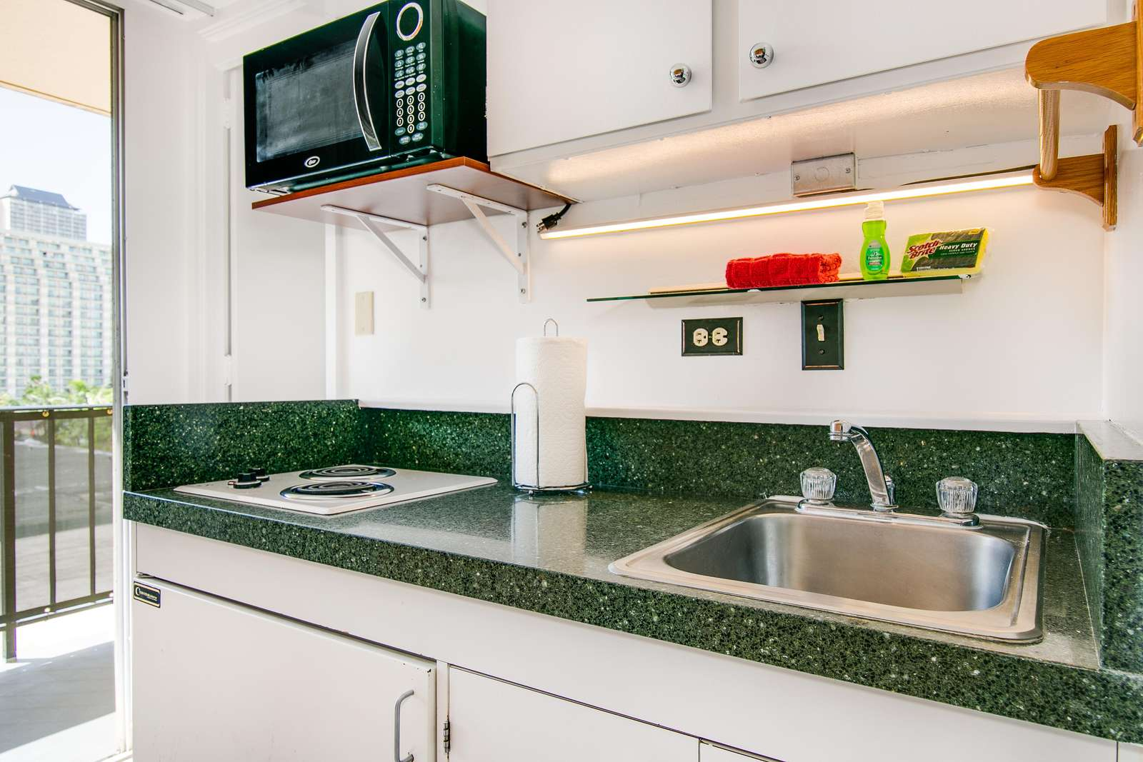 Bright and clean kitchen area