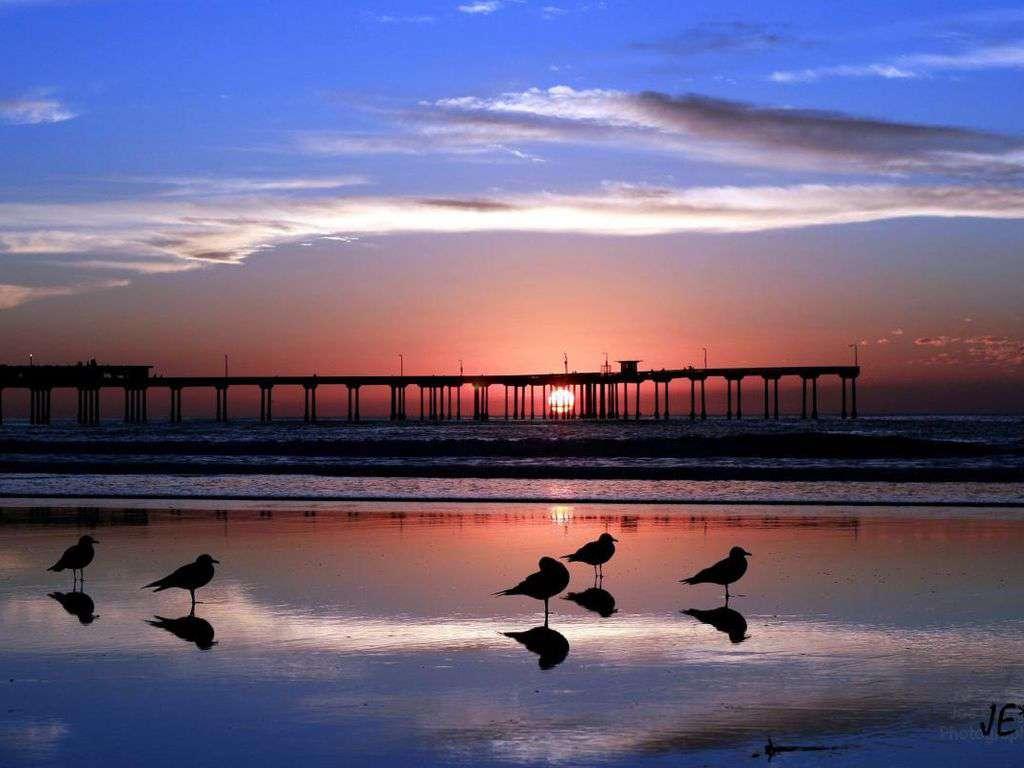 Ocean Beach, CA - where the sun sets on San Diego.