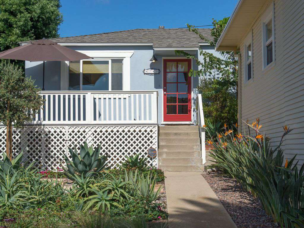 Private residence includes front porch and patio - and gated back yard.