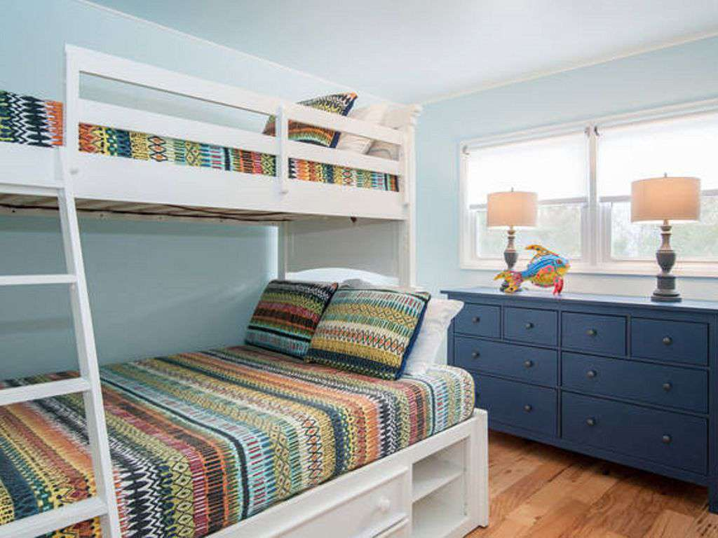 Second bedroom is family-friendly and sleep-over ready.