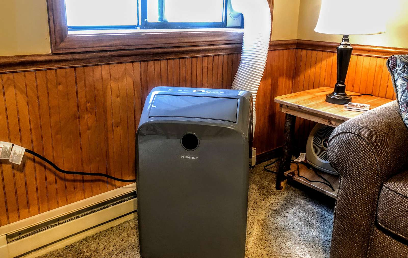 Portable Air Conditioning (AC) unit installed during Summer months!