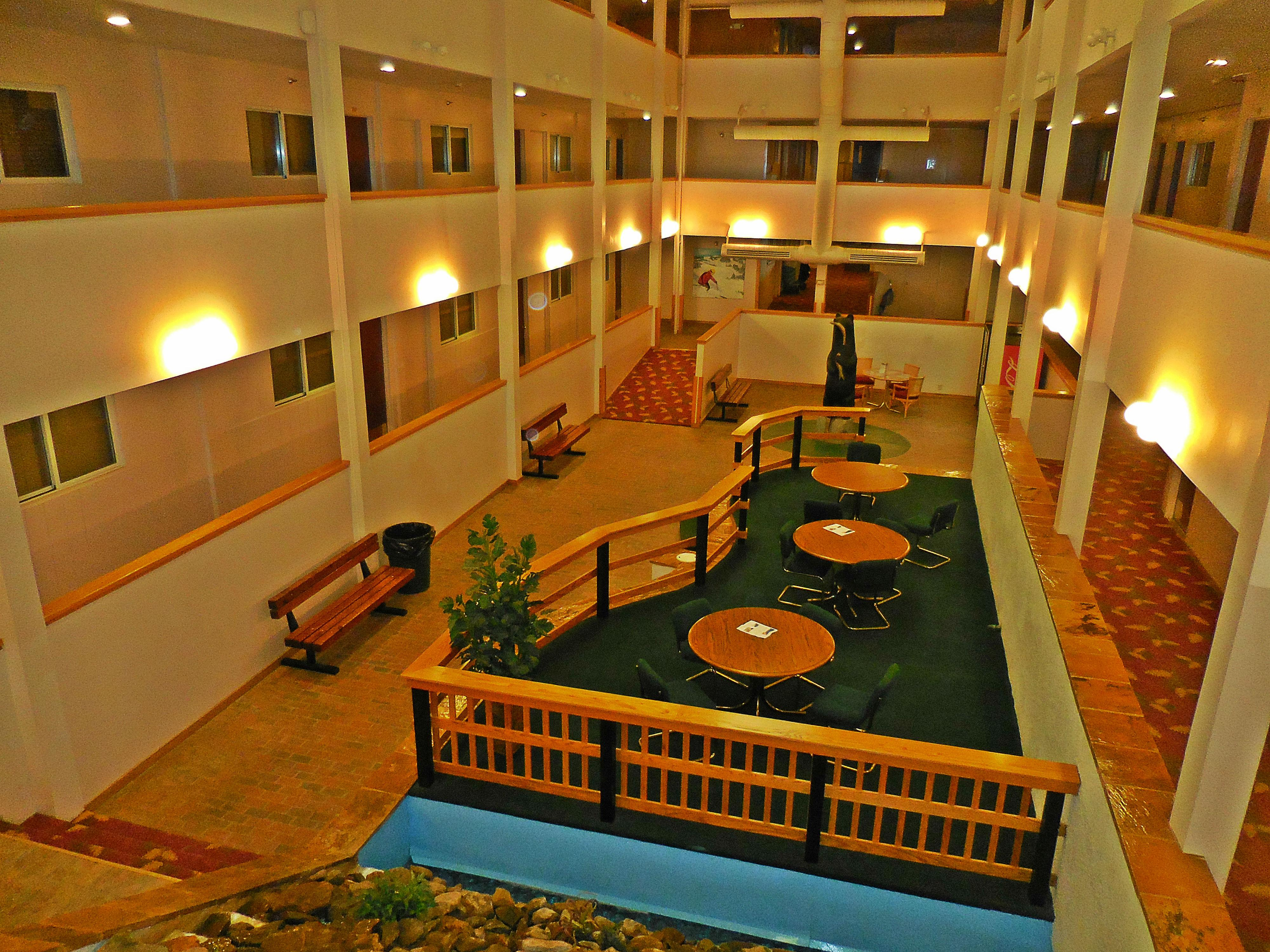 Mountain Lodge offers large common areas, an arcade, TV viewing area, fitness area, and playground equipment!