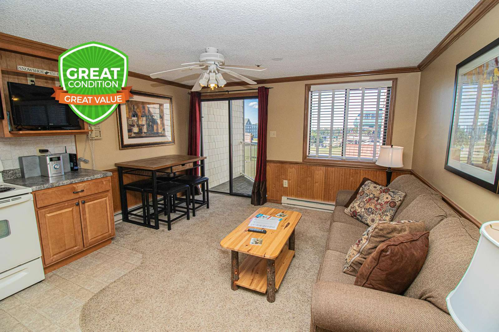 ML228 is your Snowshoe home away from home! Clean & cozy!