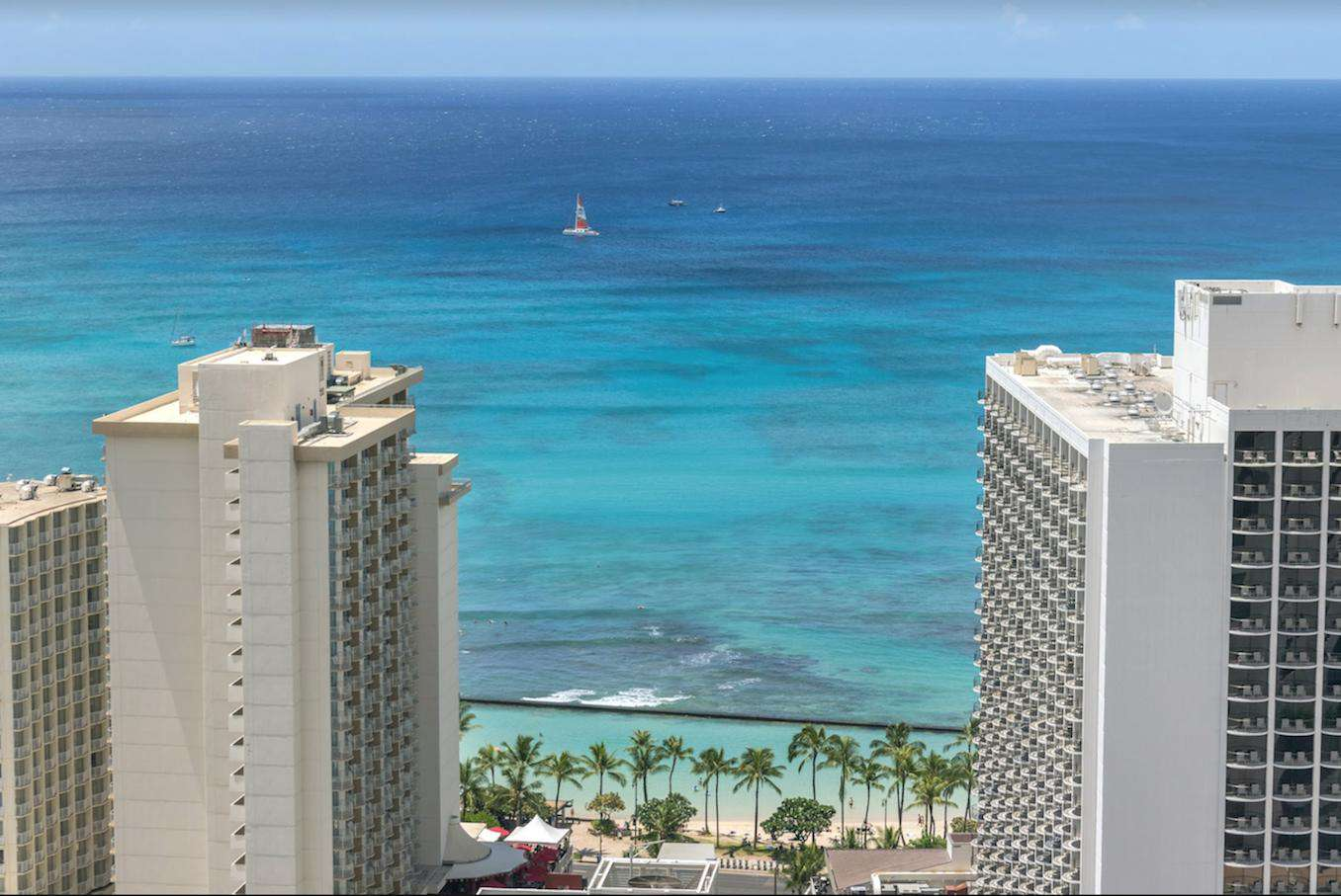 Waikiki right out the window