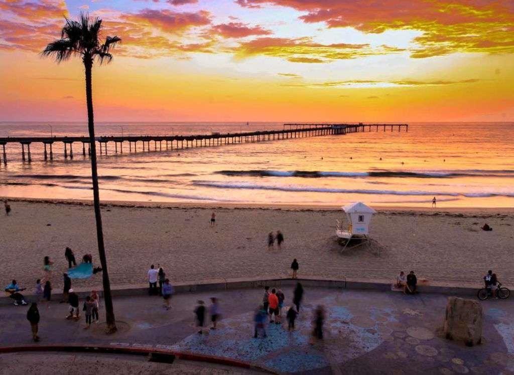 OB public beach and pier - largest concrete pier on the west coast.