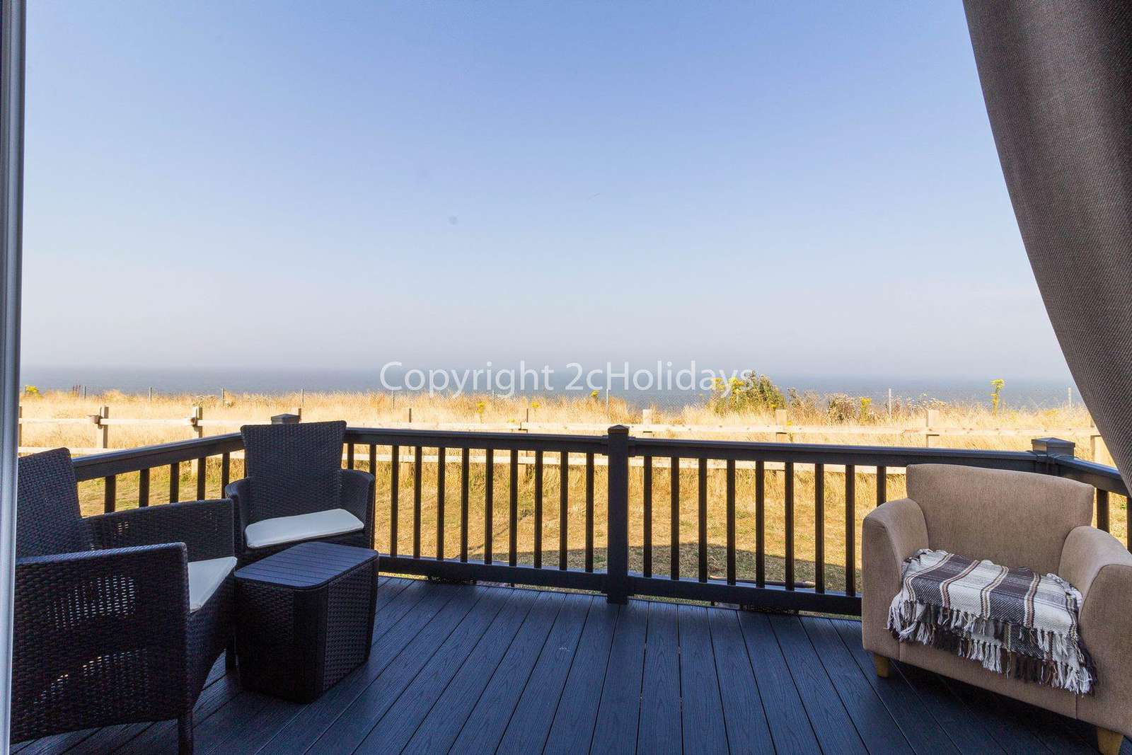 Enjoy the use of outdoor furniture whilst enjoying the full sea view!