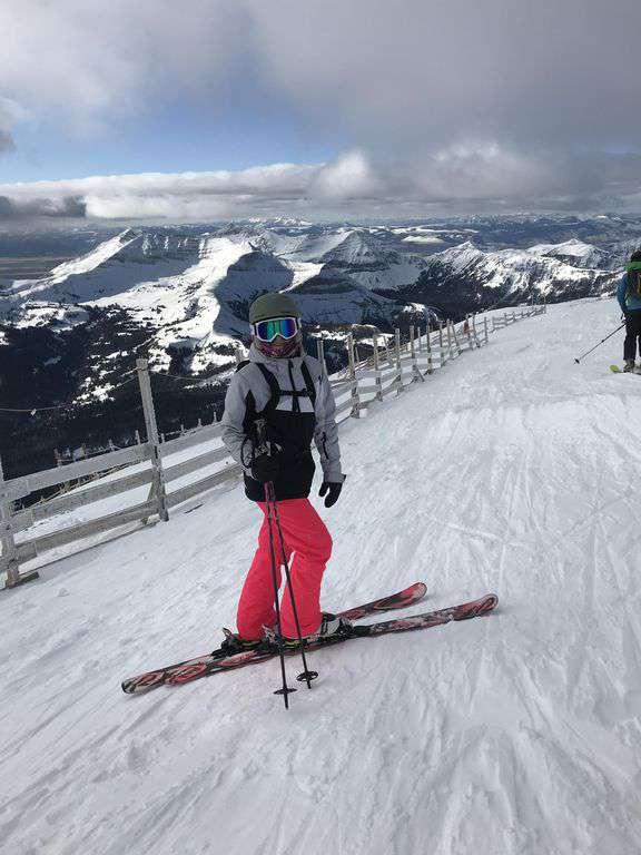 At the top of Lone Peak Big Sky Dec. 2017.