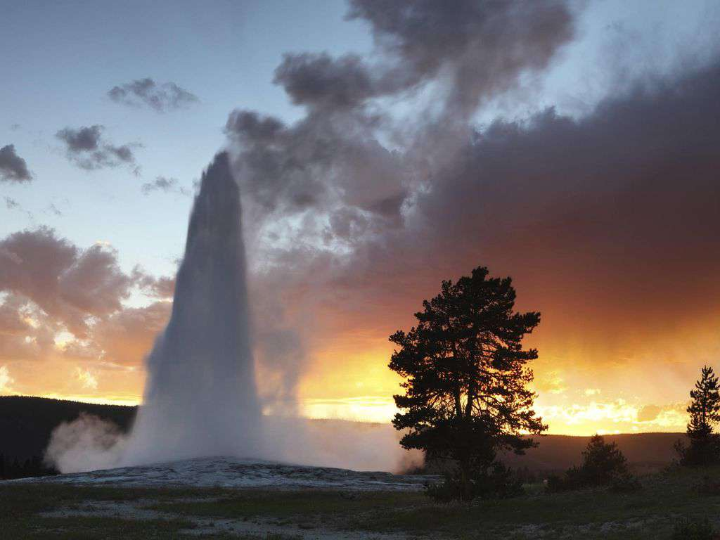 Old faithful in Yellowstone National Park.