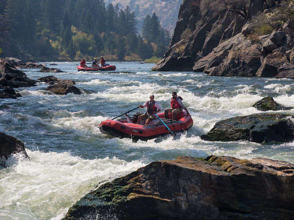 White water rafting just 25 minutes from town.