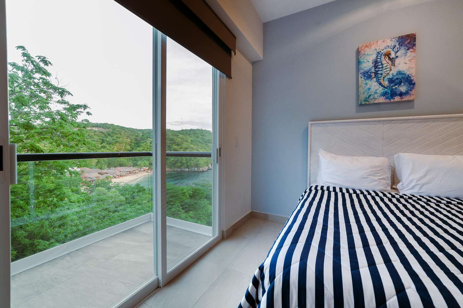 Second bedroom private terrace with ocean views